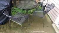 round black metal patio table with two chairs Georgetown, 40324