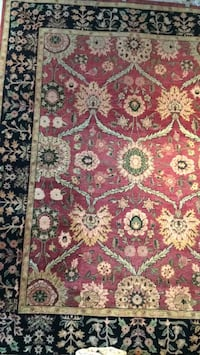 red, white, and green floral area rug Washington, 20024