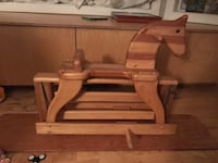brown wooden rocking horse Airdrie, T4B 2L3