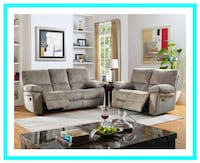 New Reclining Sofa and Loveseat Set Windsor Mill