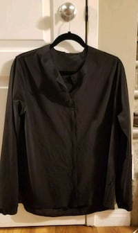 black button-up long-sleeved shirt from LULULEMON Edmonton, T5P 1P4