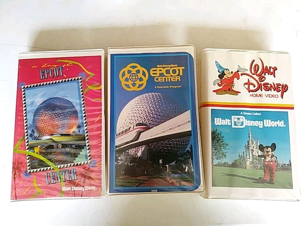 Walt Disney Epcot VHS lot