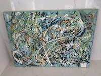 Abstract art on canvas (original) Toronto, M3H 5Z9