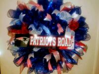 blue and red mesh wreath New Port Richey, 34652