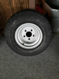 Pontoon trailer tire & wheel