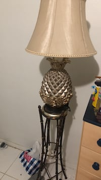 gray based table lamp