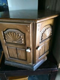 brown wooden 2-door cabinet Prairieville, 70769