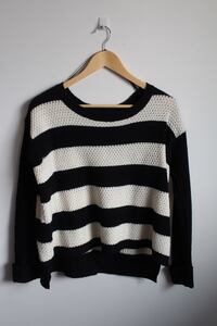 Striped black white knit sweater  Calgary, T2W