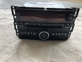 Black car stereo head unit for GM vehicle (Out of a Saturn Sky)