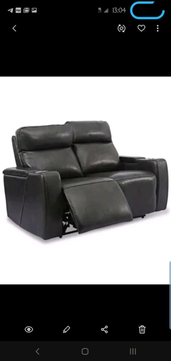 Magnificent Macys Real Leather Power Recliner Loveseat W Usb Lamtechconsult Wood Chair Design Ideas Lamtechconsultcom