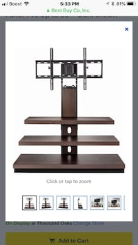 """NEW Insignia TV stand wood and glass TVs up to 52"""" Agoura Hills, 91301"""