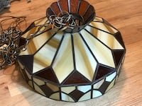 Brown tiffany lamp . Holbrook