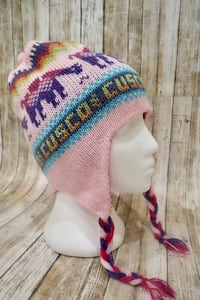 Winter Hat Pink/Magenta Reversible Alpaca Wool Blend
