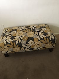 black,brown, and white floral ottoman chair New Port Richey, 34652