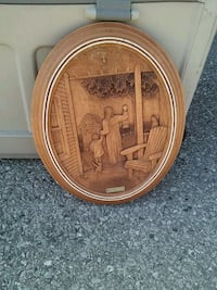 round brown wooden framed wall decor Toronto, M1B 2P4
