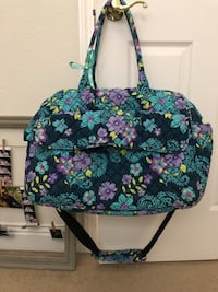 black, green, and pink floral tote bag Brentwood, 94513