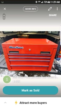 red and black tool chest West Kelowna