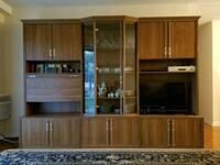 brown wooden wall unit  Wheeling