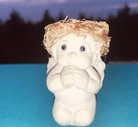 """1991 Cast Art Dreamsicle """"Bless Us All"""" Praying Angel Signed by w Stillwater, 74074"""