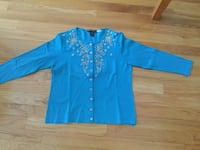 GORGEOUS TURQUOISE 100% SILK SWEATER SIZE SMALL Montréal, H9K 1S7