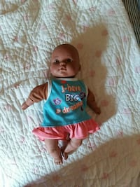 blue and pink dressed infant doll Adrian, 49221