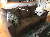 brown fabric 2-seat sofa Seattle, 98103