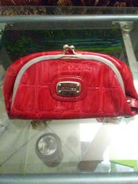 red Guess leather bag