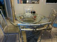 Glass table with 4 chair Palm Coast