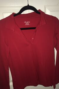 red long sleeve shirt from the childrens place, size xxL