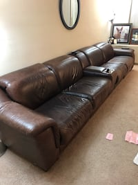 Original price $6,118.-Black leather 4-seat sofa( price negotiable ) Falls Church, 22046