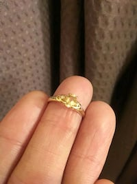 10k gold ring with citrine and diamond accents Toronto, M1R 1P4