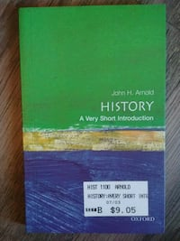 History A very short introduction book Vista, 92084