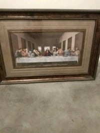 LAST SUPPER. PAINTING. BRASS FRAME Pearland, 77581