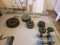 black and gray barbell and dumbbells Weymouth, 02189