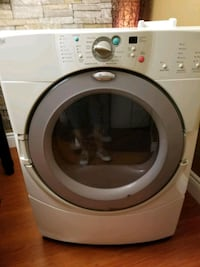 white Whirlpool front-load clothes dryer Mississauga, L4Y 3X8