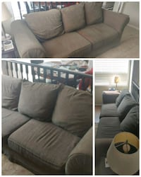 "Fantastic 8 foot couch. 39""deep 32""high. Pickering, L1X 2R1"