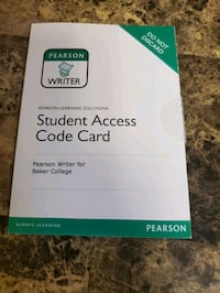 Pearson student access code card Mount Clemens, 48043