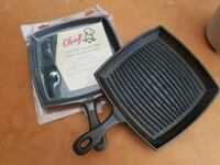 Master Chef Cast Iron Grill Pans, 2 units Surrey, V4N 3J4