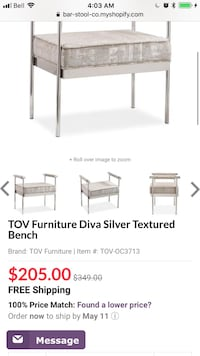 Brand New in box TOV Bench St Catharines, L2R 4H6