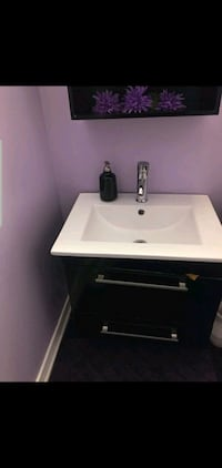 Vanity with sink and mirror cupboard  Milton, L9T 6Y2