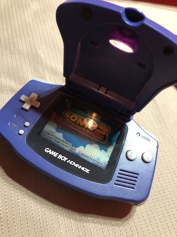 Game Boy Advance With Light And Sonic Advance 2
