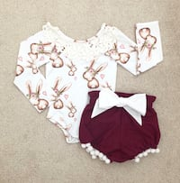 Sugarplum Lane Baby one piece and bloomers size 2T- never worn Mississauga, L5M 0C5