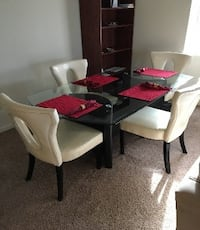 Glass Table and Four Chairs - PROVIDENCE Rhode Island