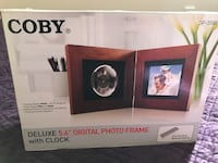 Coby Deluxe 5.6 Digital Photo frame with clock box Hatboro, 19040