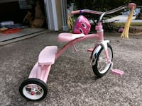 Pink Radio Flyer tricycle with helmet Lawrenceville, 30043
