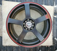 1 black and red wheel
