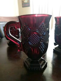 Antique Avon Scarlett Red Coffee Mug Set Salida, 95368