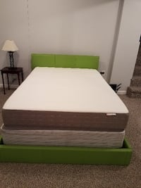 Full Mattress, Boxspring and Green Frame ROCKVILLE