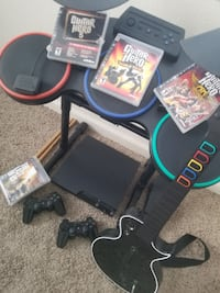 160GB PS3 Slim & Guitar Hero Band Bundle Elk Grove
