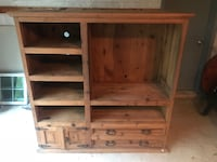 Solid Wood TV Entertainment Center Display Storage Silver Spring, 20906